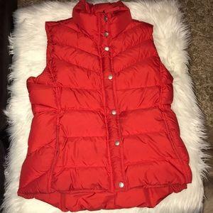 EUC Sz Large Red J. CREW Puffer Vest